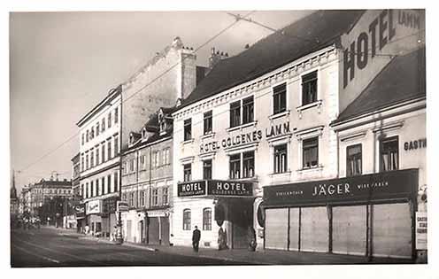 A Hotel Goldenes Lamm a Wiedner Hauptstrasse 7. szám alatt