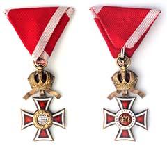 A Lipót-rendet (Osztrák Császári Lipót-rend) Habsburg I. Ferenc osztrák császár és magyar király 1808-ban alapította meg édesapja, II. Lipót magyar király tiszteletére. A képen a rend lovagkeresztje elő- és hátoldala látható