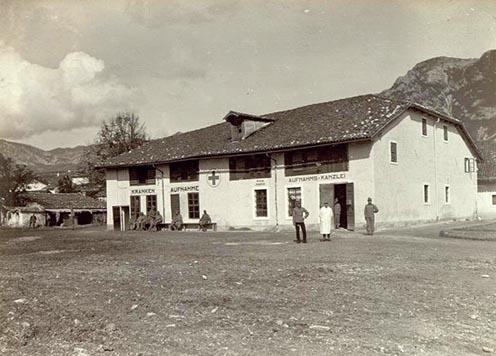 A haidenschafti császári és királyi hadikórház 1915-ben
