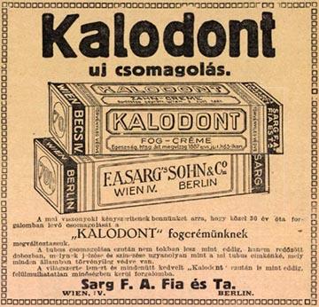 Korabeli Kalodont újságreklám