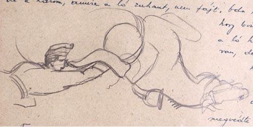A zuhanás után: rajz az emlékiratból