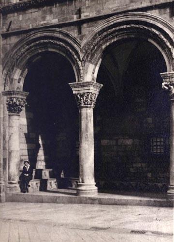 1918 novemberében készült fotó a Palazzo dei Rettoriról