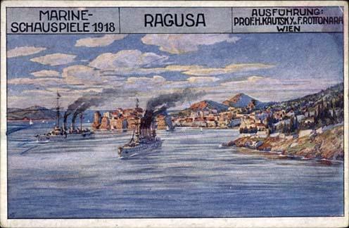 Raguza – a mai Dubrovnik – egy korabeli képeslapon