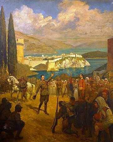 A szerb hadsereg 1918. december 1-jén felszabadítja Dubrovnikot