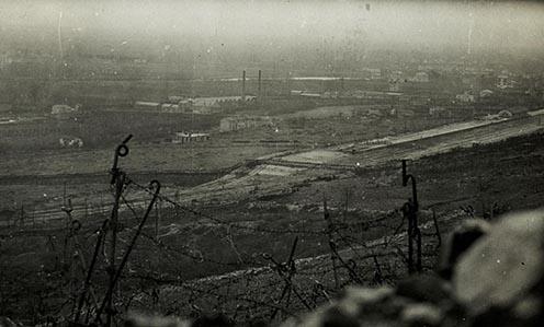 Kilátás az olaszok által megszállt Monfalconéra 1916 tavaszán