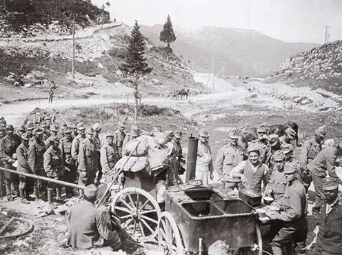 Ebédosztás az olasz fronton