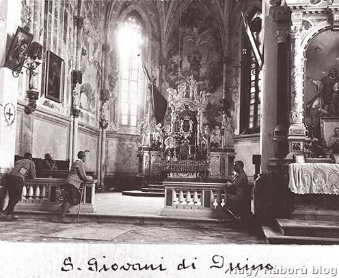 A San Giovanni templom oltára a háború elején