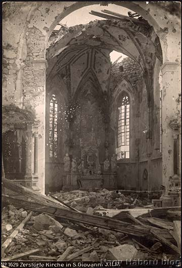 A San Giovanni templom oltára 1917. november 3-án