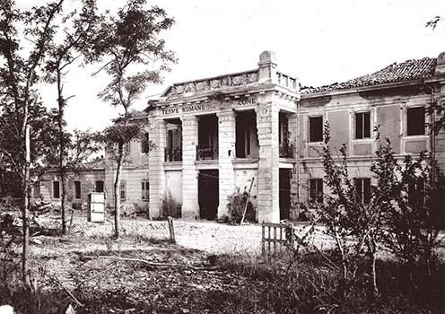 A naplóban leírt Terme Romane fürdő épülete 1915-ben