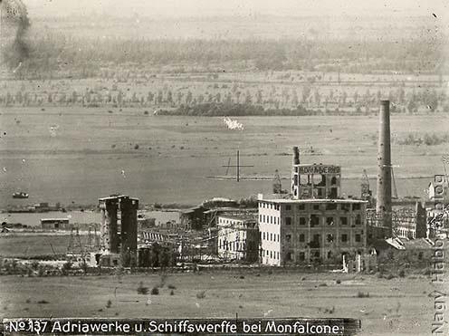 Az Adriawerke hajógyár egy részlete