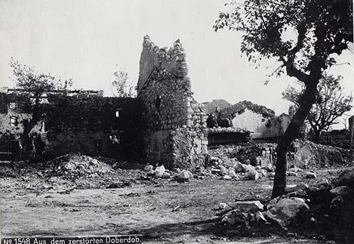 Doberdói utcarészlet a háború alatt