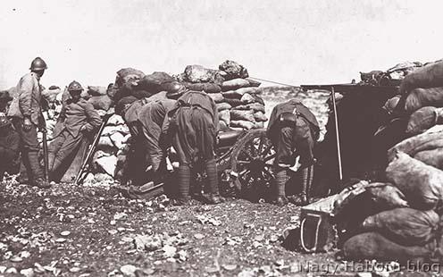 Olasz hegyiágyús tüzérség a Doberdón
