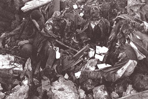 Hősi halottak maradványai a Doberdón az összelőtt állásokban