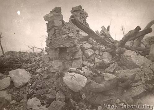 Oszlásnak indult elesett katona