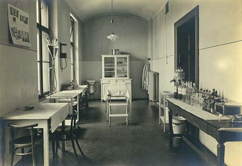 A marburgi 3. számú tartalékkórház műtője