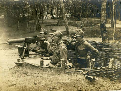 Géppuskaállás az orosz fronton