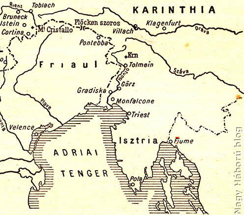 A térség áttekintő térképe