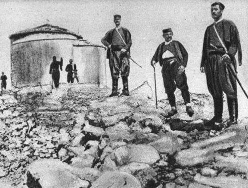 Montenegrói katonák 1914-ben a Lovcenen