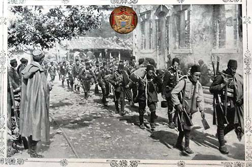 Vonuló montenegrói csapatok