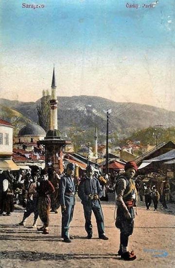 Szarajevói képeslap osztrák–magyar katonákkal