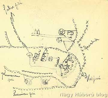 """A naplóíró cs. és kir. nagyváradi 37. gyalogezred kikülönített IV.  zászlóaljának helyzete a 255-ös magaslaton, a valjevói """"zsákban"""", dr. Kemény Gyula naplójából"""
