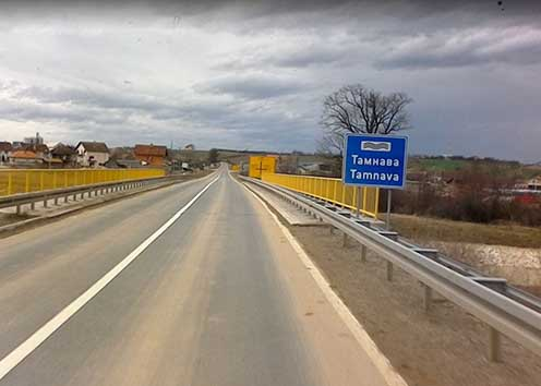 A Tamnava patak hídja Koceljava feluban 2016-ban a Google maps fotóján