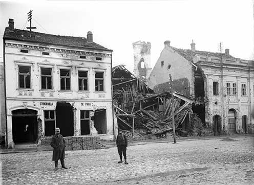 Szabácsi utcarészlet 1915 őszén
