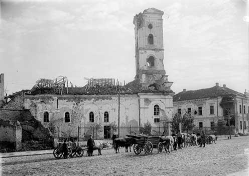 A szabácsi Péter-Pál templom 1915 októberében