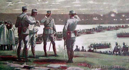 A szabácsi hadihíd korabeli képeslapon