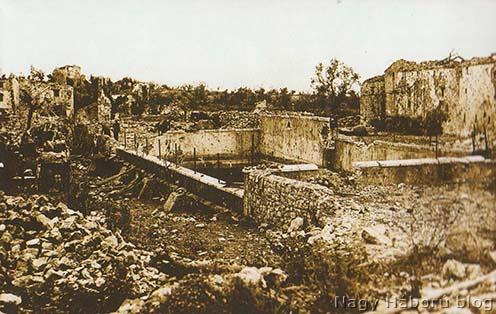A ciszterna 1916-ban a faluban