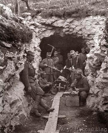 Épülő kaverna az olasz fronton