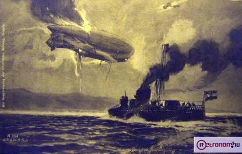 Olasz léghajó kilövése, 1916