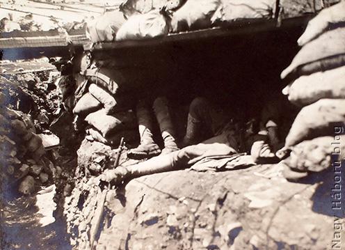 Állásrészlet dekunggal 1916 tavaszán San Martinónál