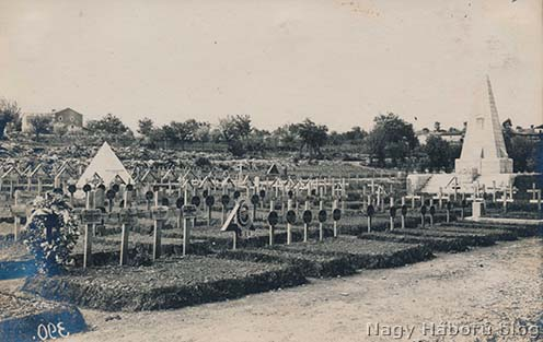 A sutai temető 1917-ben