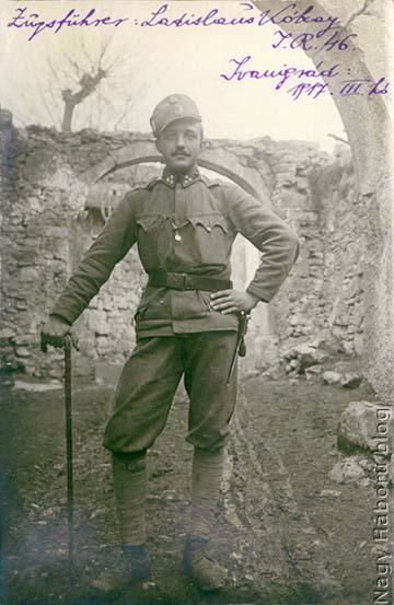 Kókay László szakaszvezetőként Ivanigrádban, 1917 tavaszán
