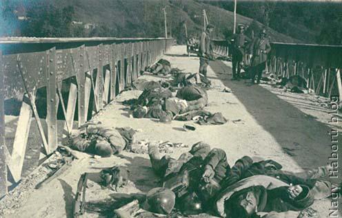Halott olasz katonák a Tagliamento folyónál
