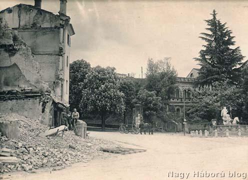 Conegliano nyugati része a Neptun kúttal 1918 tavaszán