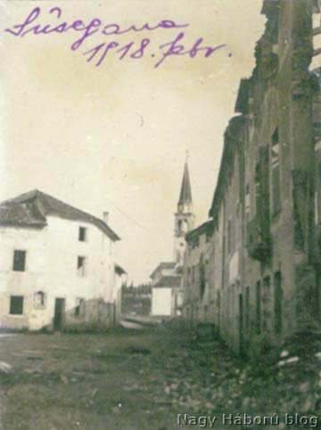 A romos Susegana 1918 februárjában