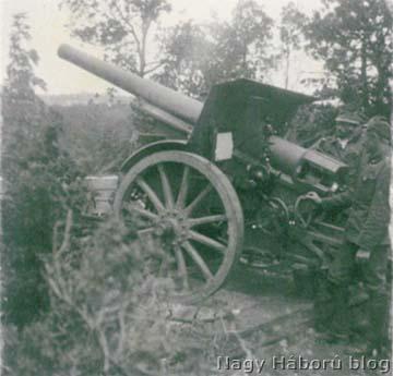 104 mm-es ágyú a Piavénál
