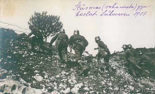 Rohamisták akcióban – 1917-ben a Lukovecen készült fotó