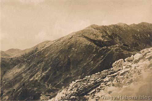 >A visszavonulás helyszíne a Monte Solarolo a Fontana Seccáról