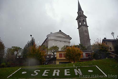 Seren központja 100 évvel később (Seren del Grappa, 2018. október 28-án, szakadó esőben, Pintér Tamás felvétele)