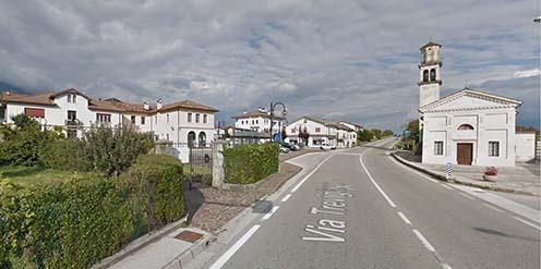Formegán főtere Belluno irányában