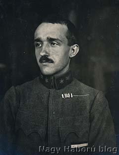 Kókay László hadnagy 1918. december 5-én Szegeden készült portréja