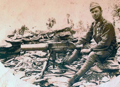 Osztrák-magyar géppuskás