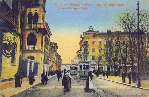 A Giuseppe Verdi korzó Görzben az 1900-as évek elején