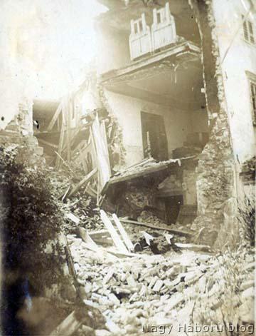 Romos görzi épületek 1916 tavaszán