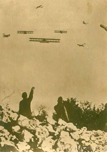 Légiharc a Doberdó mögötti területen