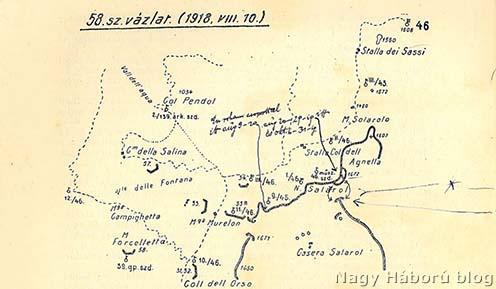 A terület vázlata az ezredtörténetből Kókay László kiegészítő jelöléseivel
