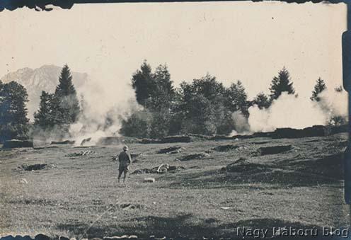 46-os sturmos gyakorlat San Gregorio Nelle Alpi mellett 1918 szeptemberében